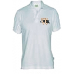 PLAYERA UNIFORME COLOR BLANCA ESTEVC TM LOGO COLORES